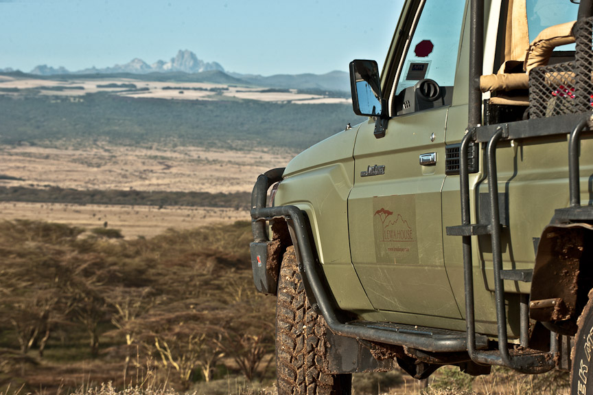 A typical lewa view on a game drive