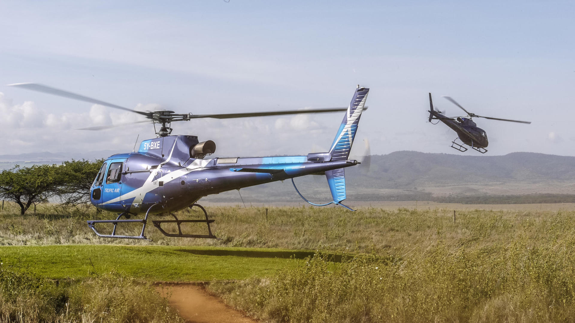 A family expedition by helicopter