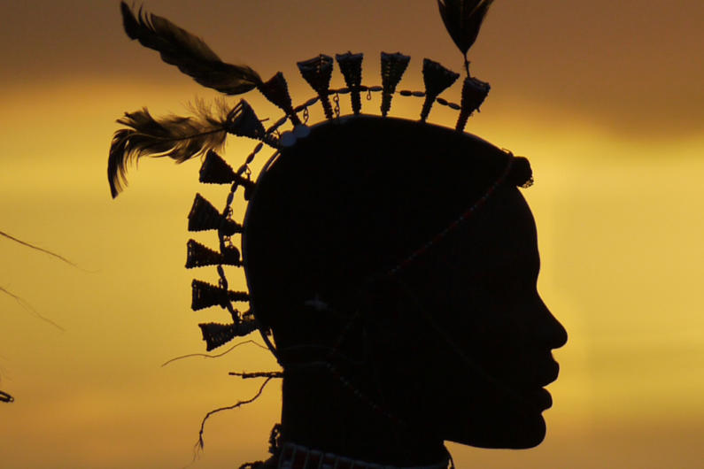 A Samburu headdress
